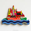 Prague Vltava river souvenir magnets, any cities fridge magnet, handpainted tourist souvenir fridge magnet, GH2-14