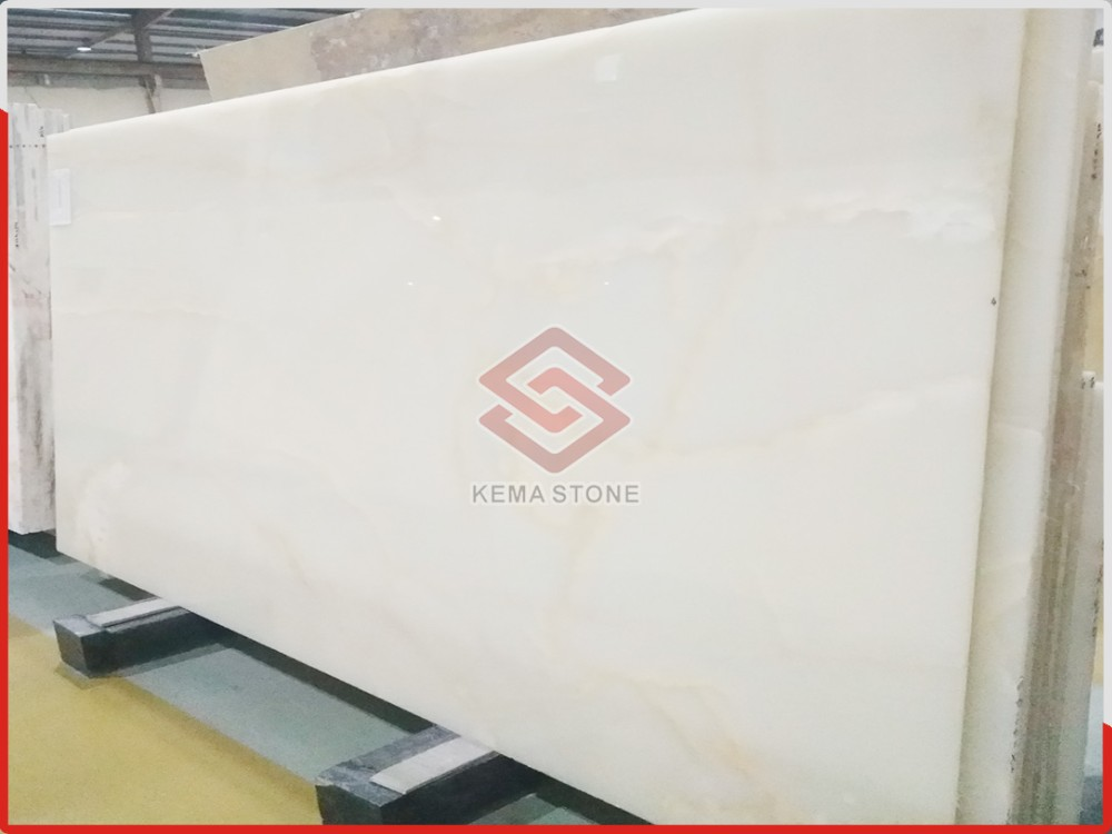Hot sale Luxury Natural Snow White Onyx Stone slab Factory wholesale