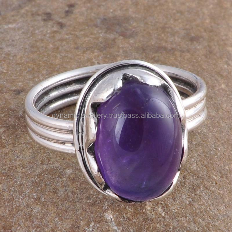 Amethyst Jewelry In Silver New Listing GSR000307