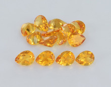 Wholesale Price Pear Shape 3x5mm Natural Yellow Loose Citrine Quartz Gemstone