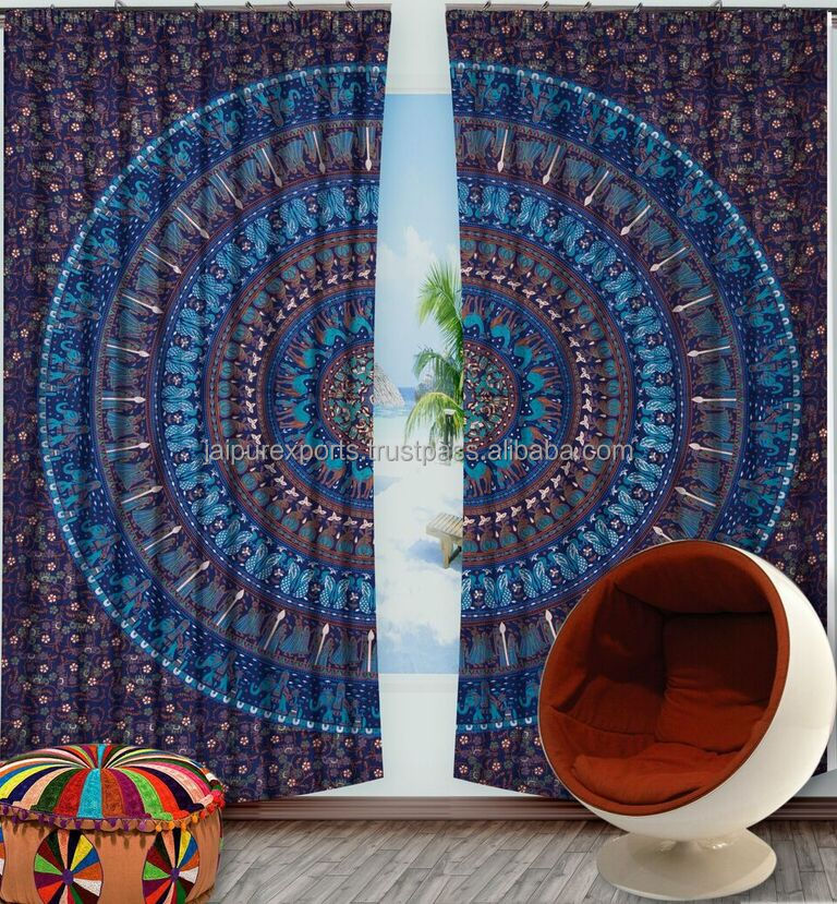 Window Curtain New Look Modern Style Printed