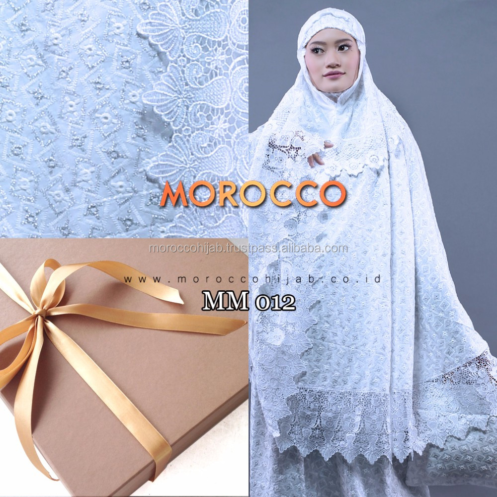 Mukena Telekung Clothing Prayer HQ Cotton Morocco HIjab For The World