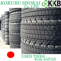 Japanese Major Brands and High Grade heavy duty truck tires for sale 245/70r19.5 used tire with high performance