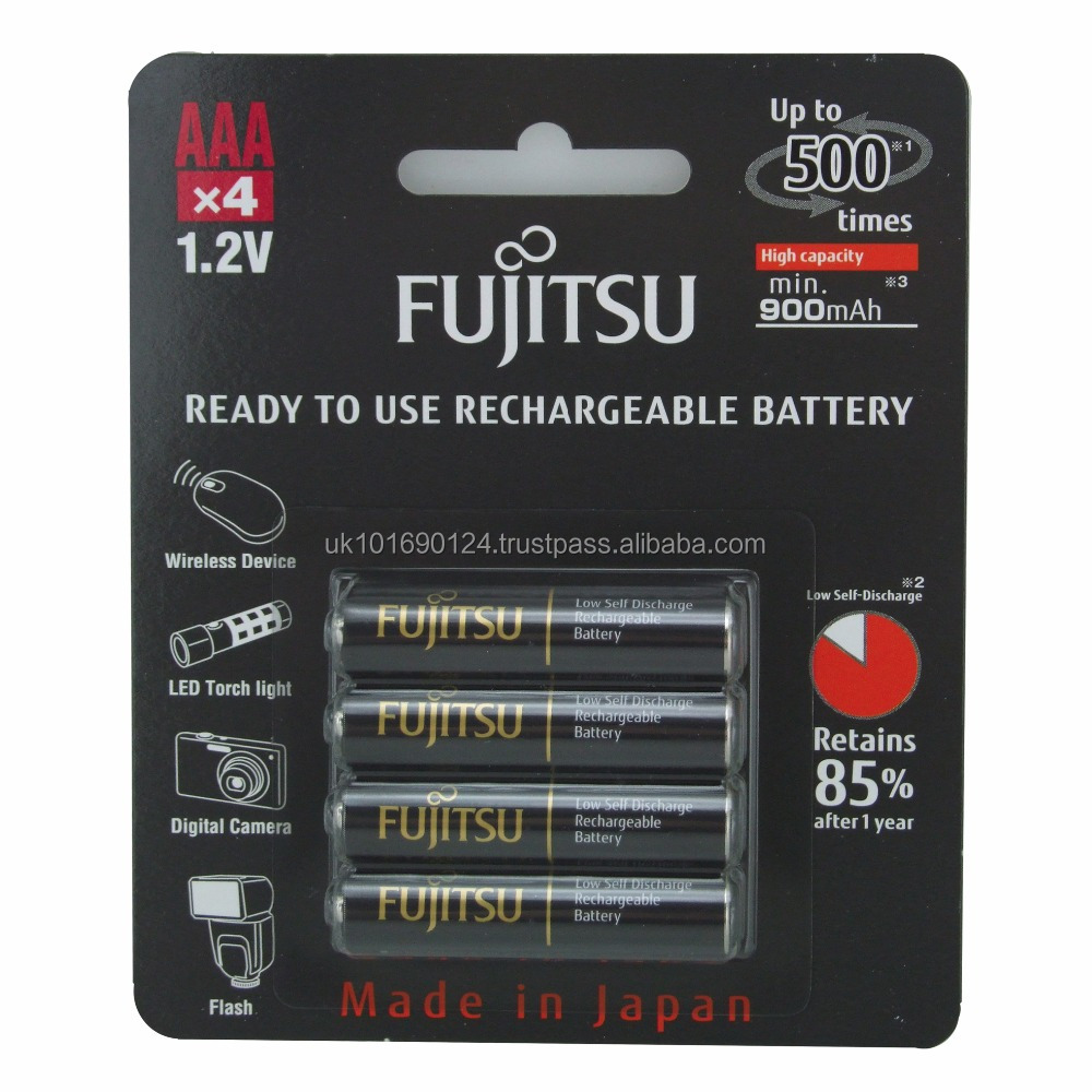 Fujitsu Rechargeable AAA / HR03 NiMH 950mAh for emote controllers radio controlled toys drone remotestorches and flash lights