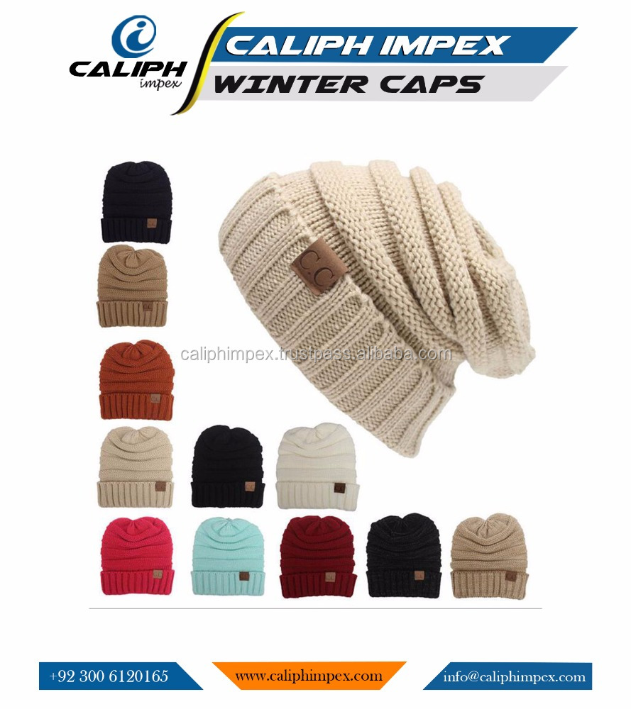 New Women Wool Winter Warm Cap Ladies Warm Knit Knitted Beanie Ski Fashion Hat