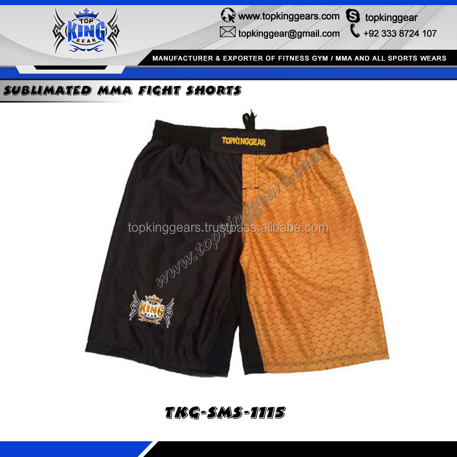 Custom Sublimated MMA Fight Shorts/ Custom Printed Blank MMA Short