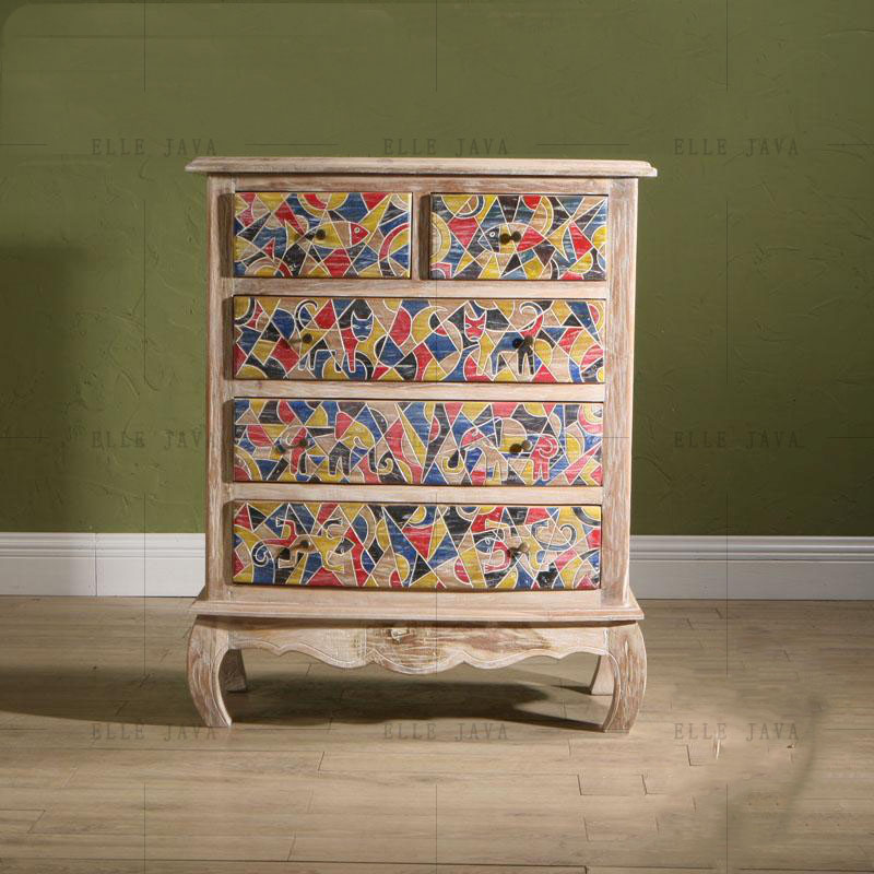 Natural Solid Wood Painted Living Room Cabinet Furniture