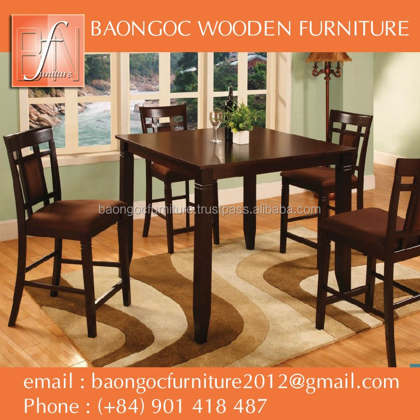 solid wood dining chair and dining table made in vietnam