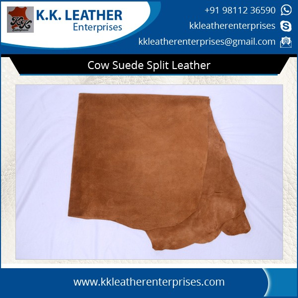 100% Genuine Fine Finish Cow Suede Split Leather Supplier