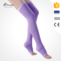 S-SHAPER Factory Price Sleep Thigh-High Compression Toeless Socks