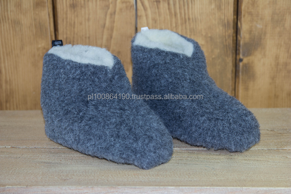 HOT SALE Geniune Merino WOOL Indoor slippers MANUFACTURER