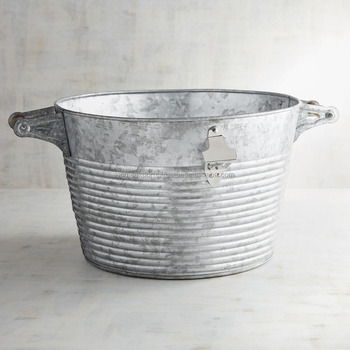 Decorate Bar Beer Tub | Galvanized beer ice tub Planter