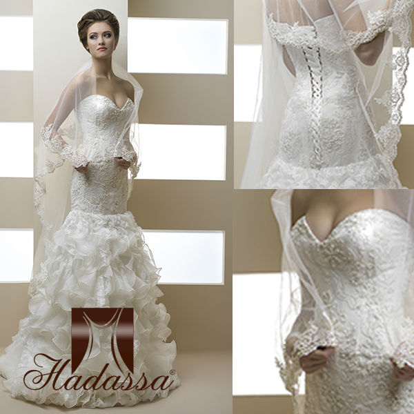 Luxury Italy Designe Mermaid Wedding Dress / Gown Beaded Embroidery