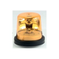 North American Signal Company TR3MM-A, TR 12V Amber Two Section Adjustable Chrome Pole Revolving Light for Motorcycles