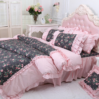 royal 100% cotton polka dots printed bed sheets king size 3d bedding set home textile