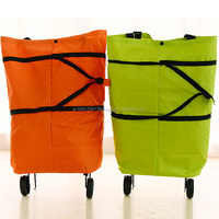 Wholesale price, flash design, new model folding shopping bag with wheel
