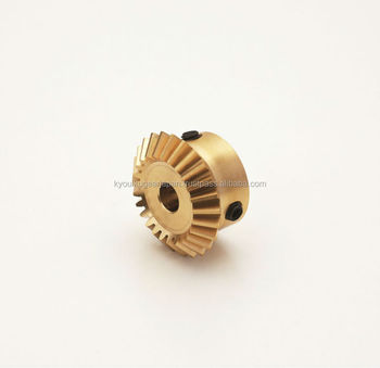 Miniature bevel gear Module 0.8 Ratio 2 Brass Made in Japan KG STOCK GEARS