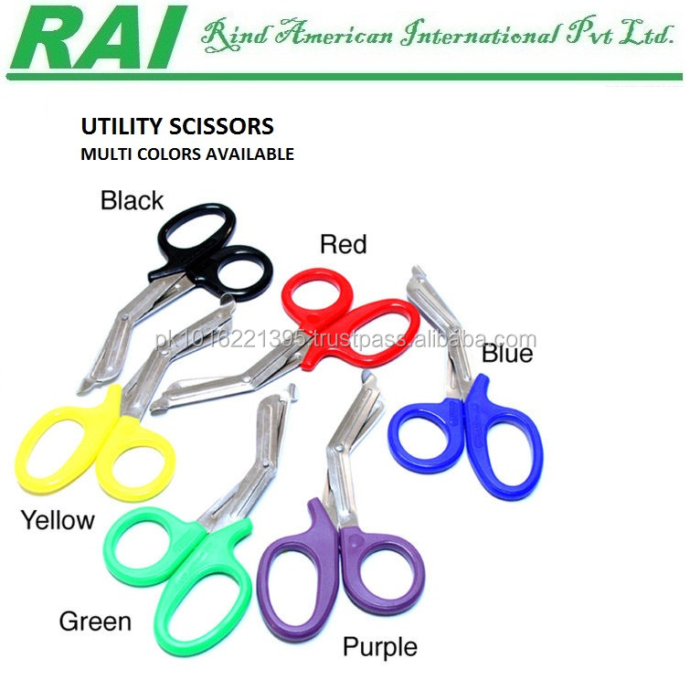 Multi Colors Plastic Handle Scissors Bandage Scissors