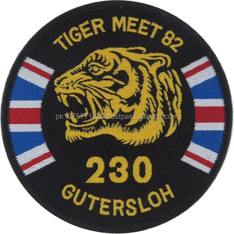 WOVEN BADGES 230 Sqn RAF (Tiger Meet - RAF Gutersloh) Puma Helicopter Sqn Woven Air Force Badge