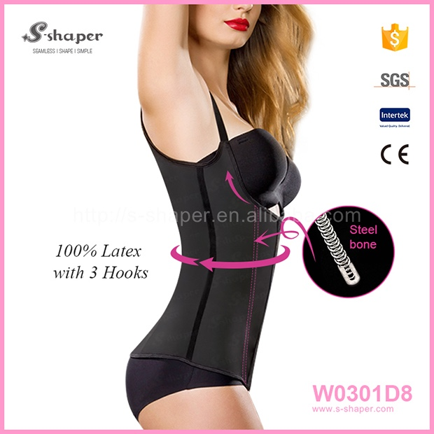 Costume Size Wholesale Fashion 2016 Latex Waist Trainer Vest Plus Size Corset Tops To Wear W0301D8