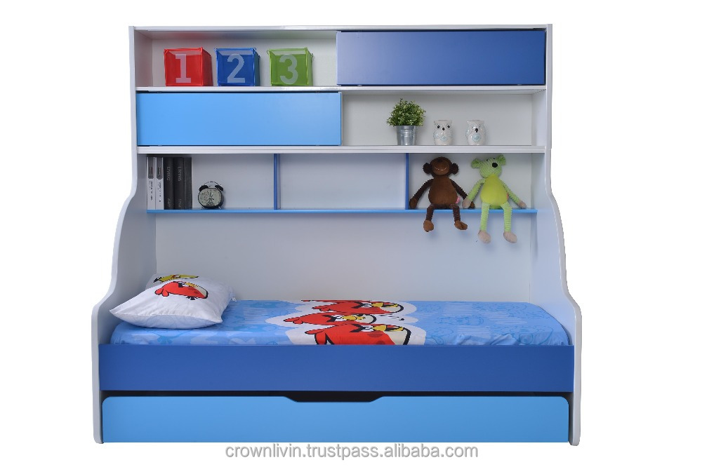 Children Bunk Bed Single Bed + Pull Out Verona (Blue)