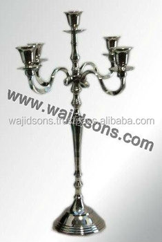 new antique party decoration used candelabra for sale | gold plated candelabra | rounded base candelabra