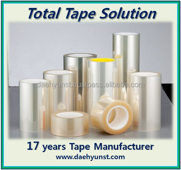 Acrylic PET protection tape/film for manufacture of Curved LCD Screen Mobile Phone (Anti-static)