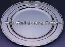 Silver Polished Serving Tray and Charger plate