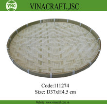 Bamboo flat basket with competitive price