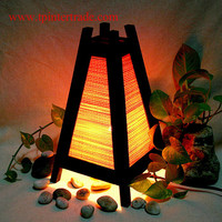 Oriental home decor bedside table lamp wood bamboo furniture Wooden TBM200