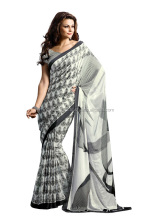 Indian Black And White Sarees For Womens