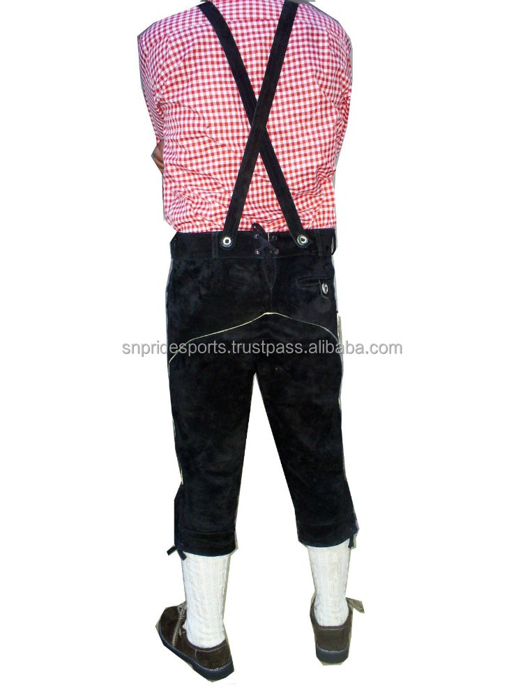 Trachten German Bavarian Oktoberfest Leather LONG / FULL Length Lederhosen