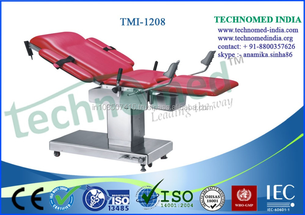 Mechanical Baby Deliverying Hospital Table / Manual Gyn Exam Table