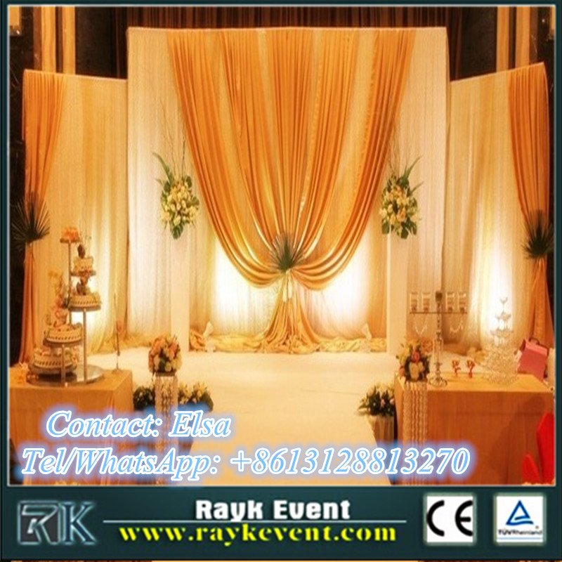 Wholesale pipe & drape curtain backdrop portable pipe & drape for party hotel decortaion from China factory