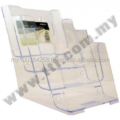 Wall Mount Brochure Holder (A4 3 Compartments), Acrylic Display, Acrylic Display Holder,Brochure Holder,Brochure Stand,Holder