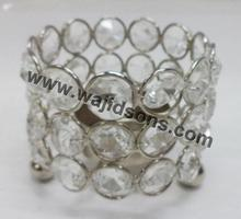 Stylish round crystal votives for stage decoration of festival