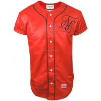 High Quality Cheap Custom Baseball Jerseys With Tackle Twill Numbers / Team Name At BERG