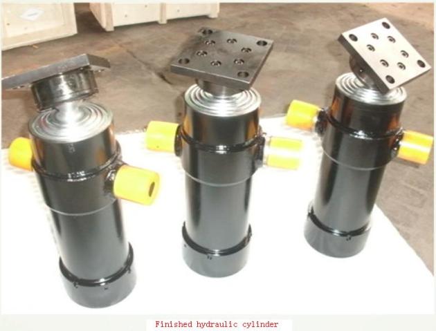 Hydraulic Dump Cylinders : Multistage telescopic hydraulic cylinder used for dump