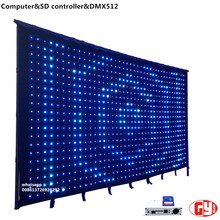 flexible led mesh curtain/programmable led curtain display/led shower curtain