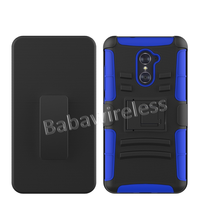 Hybrid Armor Protective Case with 3 In 1 Holster Combo Case For ZTE Grand X Max 2 - Z988