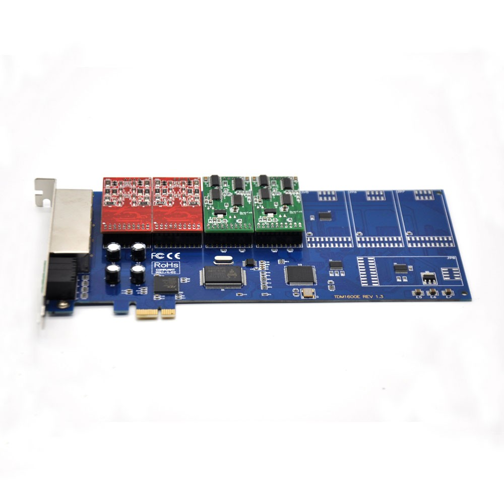 PCI/PCI-E Asterisk card for IP PBX System with 8 FXS/FXO,RJ45 port