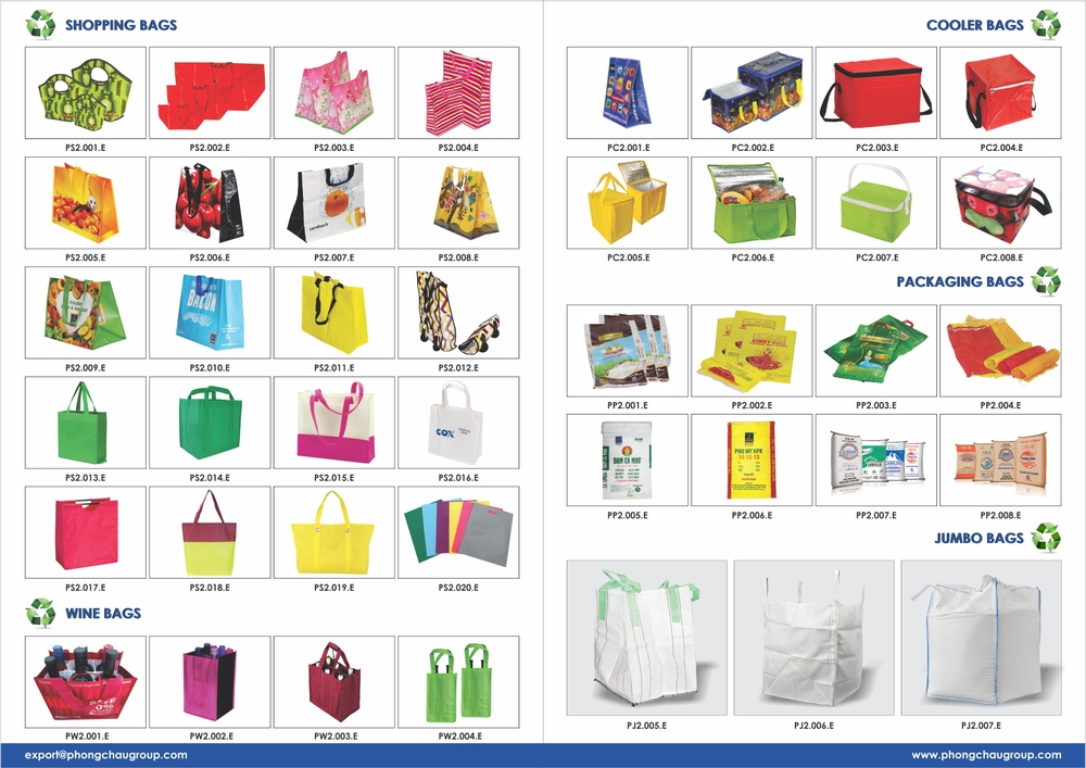 PP woven/ PP non woven shopping bag from Vietnam