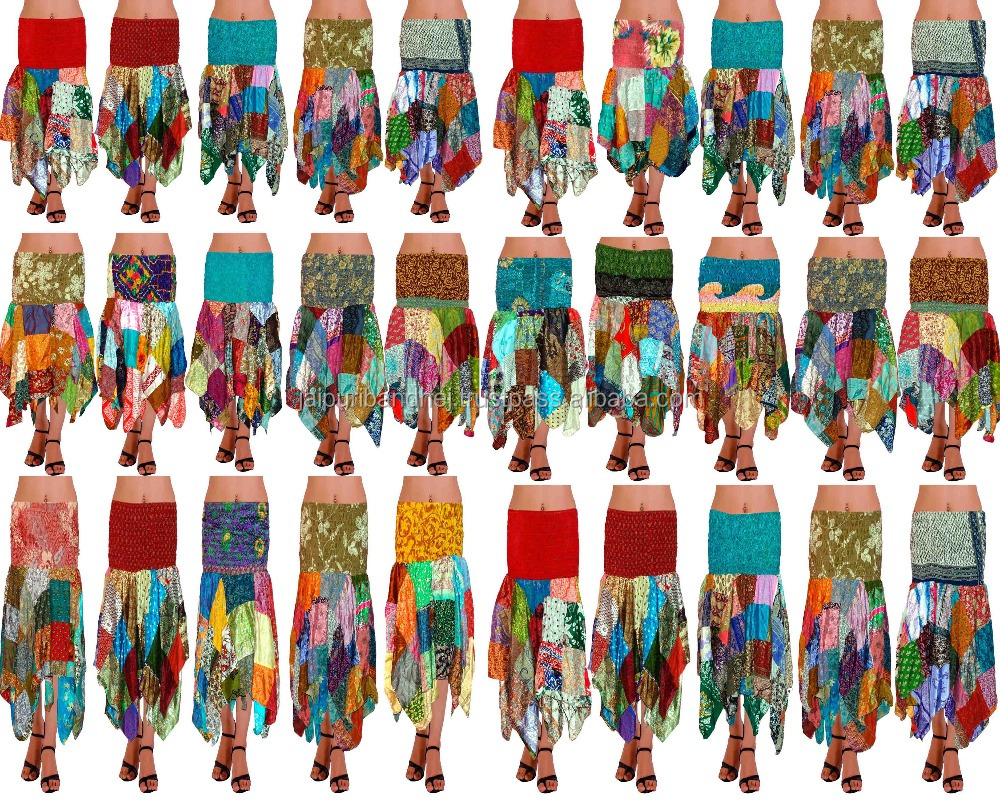 Rajasthani Printed Patch Work Skirt