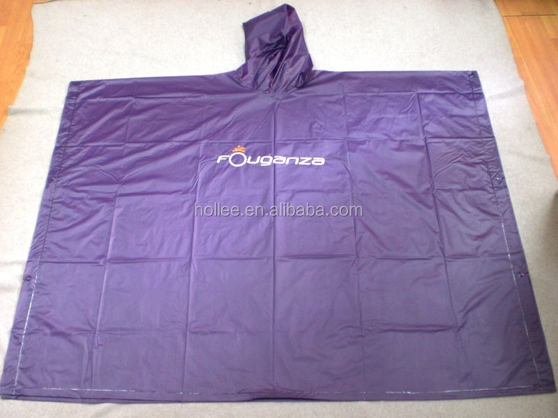2016 OEM 50X80'' adult sleeveless clear pvc rainwear