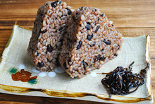 Organic Germinated Brown Rice Ball (with Red Beans) 90gx2