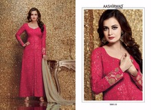 Red fancy net fabric african lace fabrics lace design salwar kameez