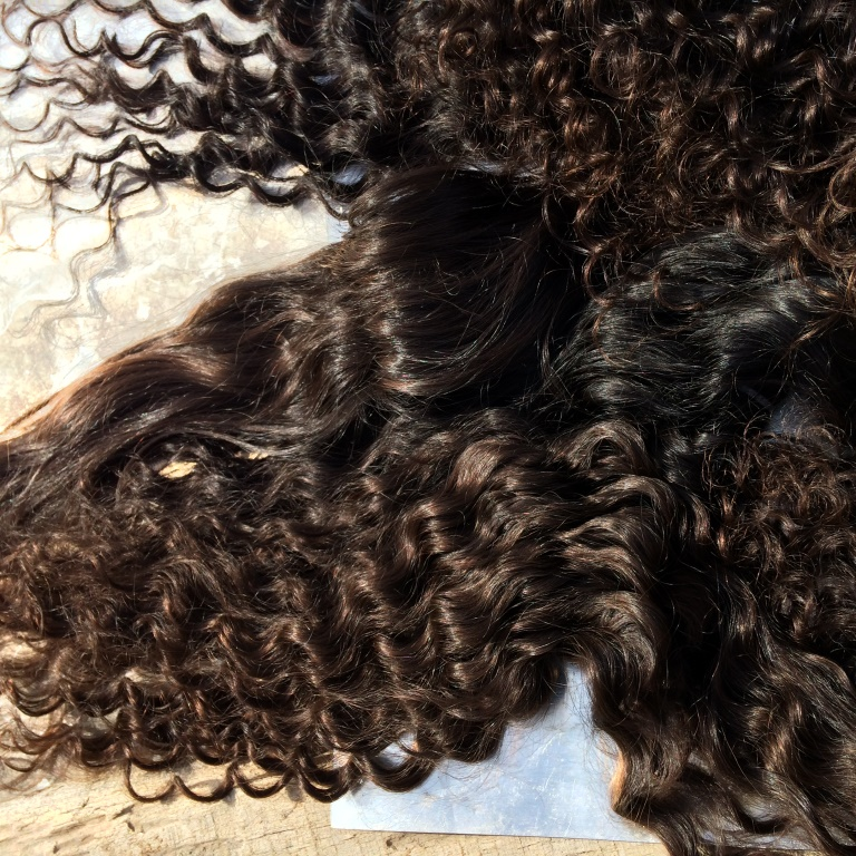 Virgin Indian Hair Company 7A Raw Indian Deep Curly Hair Indian Human Hair Weave