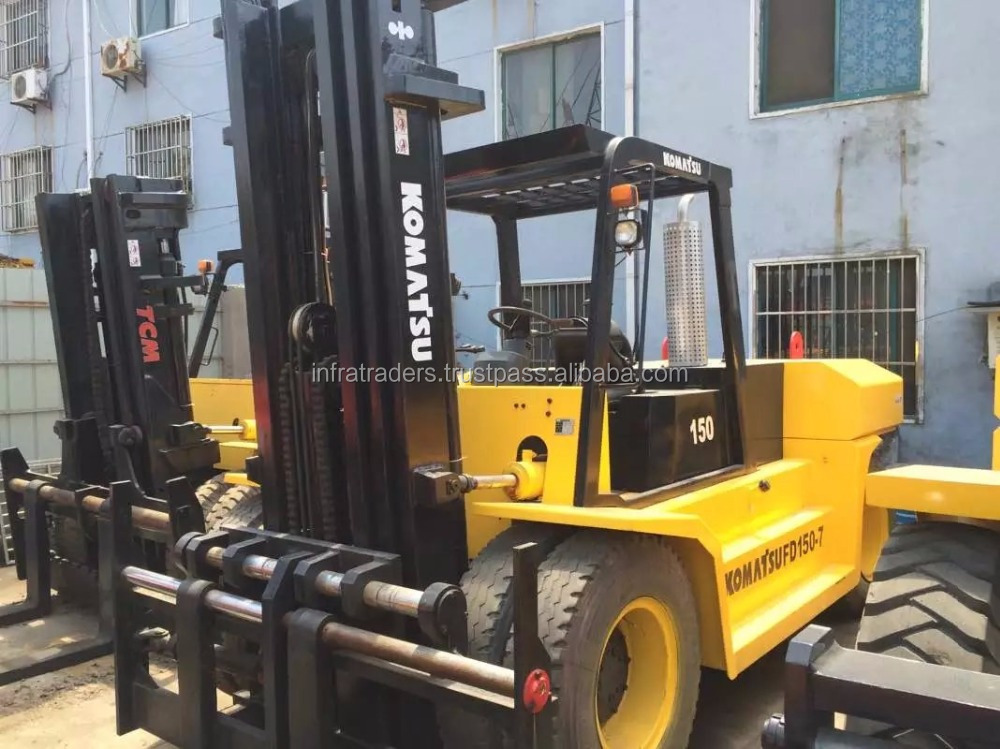 forklift spare parts,new toyota forklift price,forklift tyre,second hand/used 15t/15ton/15 ton Komatsu forklift FD150 FD150-7