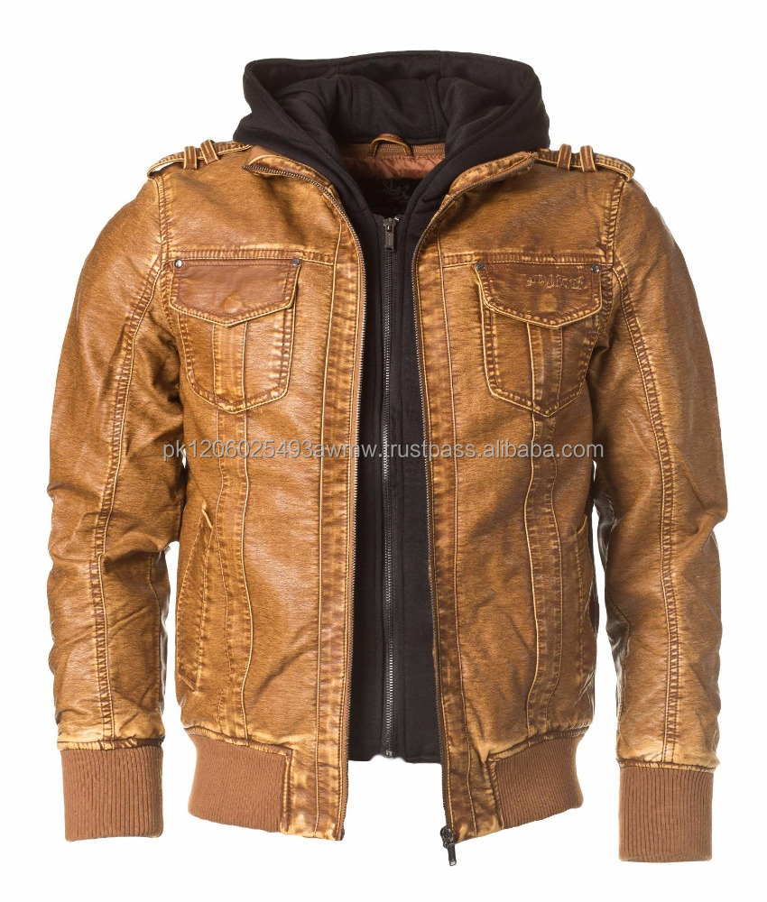 Fashion Leather Garments(males)Fashion genuine men leather jacket manufacturers