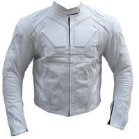 Men Tom Cruise Oblivion Motorbike Leather Jacket With Protections